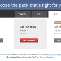 Shutterstock's Video Packs Pricing