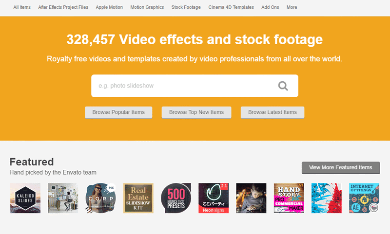 VideoHive - Affordable Stock Footage Marketplace 3