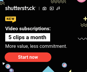 Shutterstock - 15% Off new Small Footage Subscription