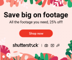 25% OFF Shutterstock: Subscriptions & On-Demand Packs
